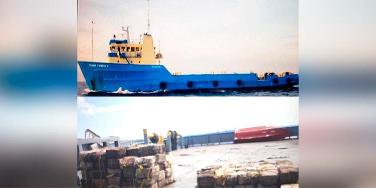 Caen 10 hondureños en barco cargado con 3 mil kilos de supuesta cocaína en el Caribe holandés