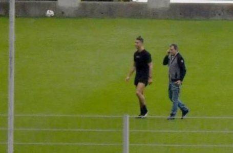 Cristiano Ronaldo vuelve a sus entrenos